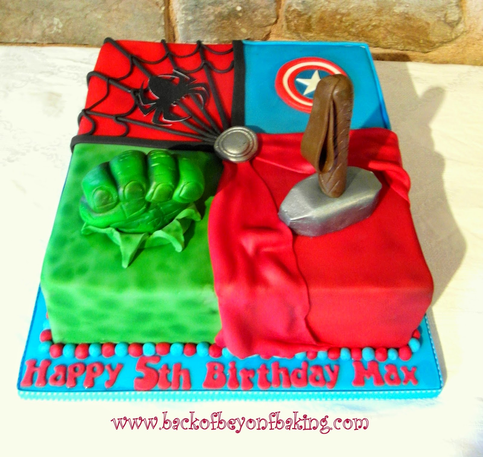 Avengers assemble boys birthday cake