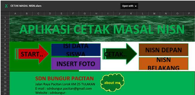 Contoh Aplikasi Cetak Kartu NISN Massal Lengkap dengan Photo - Galeri Guru