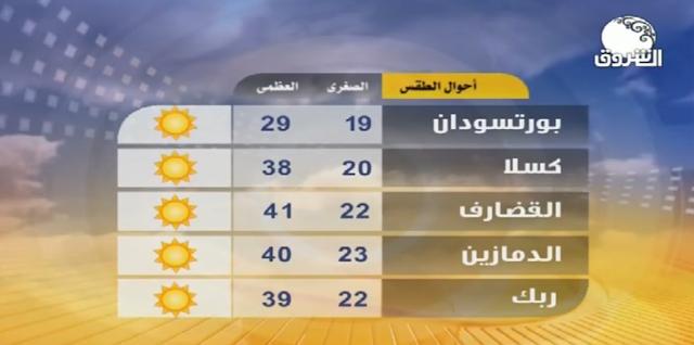 تردد قناة الشروق السودانية Ashrooq Frequency