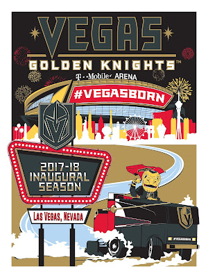 Las Vegas Golden Knights Inaugural Season Screen Print by Michael Fitzgerald x Phenom Gallery