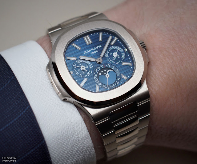 The new Patek Philippe Nautilus 5740 on the wrist