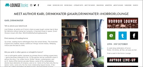 Meet Author Karl Drinkwater In The Horror Lounge
