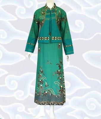 model gamis batik kombinasi sifon