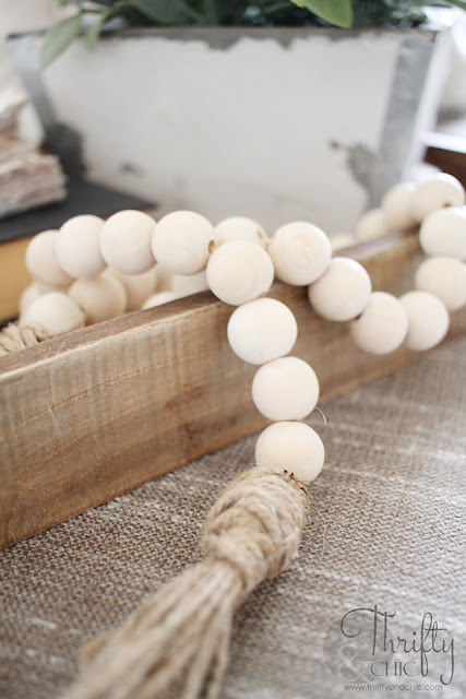 wood bead garland