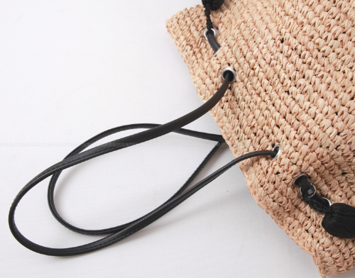 Tassel Accent Knit Bag