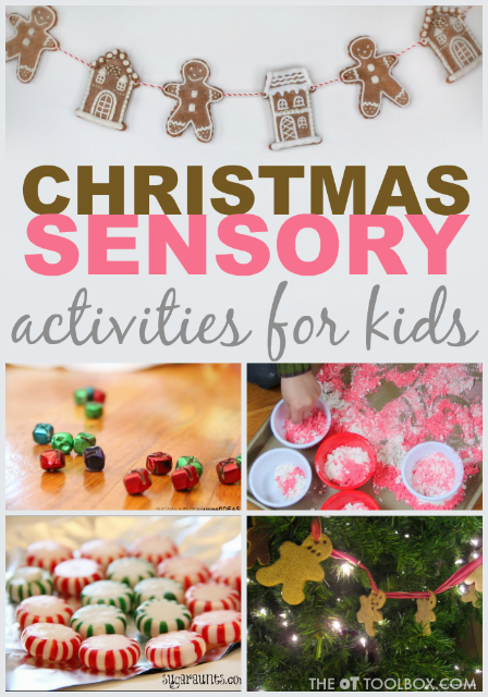 Use these Christmas sensory activities to promote development, play, learning, and fun this holiday season while working on occupational therapy activities.