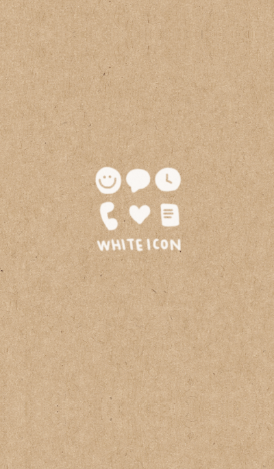 Kraft paper and white icon