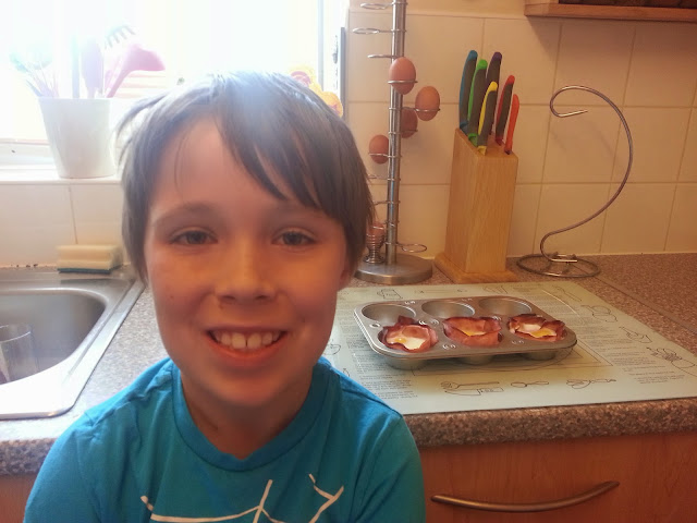 Looking Pleased with his Cooking