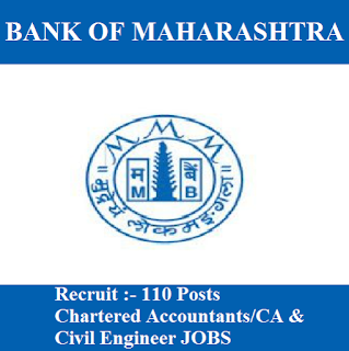 Bank of Maharashtra, Bank, CA, Chartered Accountant, Civil Engineer, Graduation, freejobalert, Sarkari Naukri, Latest Jobs, bank of maharashtra logo