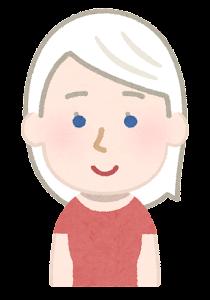 アルビノの女性のイラスト(青い目)
