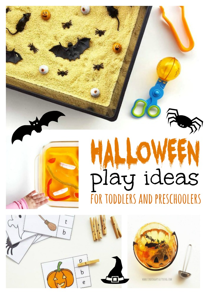 Halloween sensory play ideas for toddlers and preschoolers