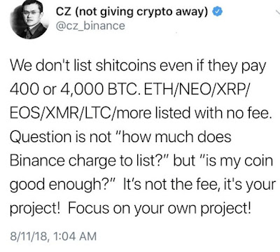 "Cryptocurrency news|Binance Denies 400 BTC Listing Quote; Accuser Responds ""You are a F***king Liar"""