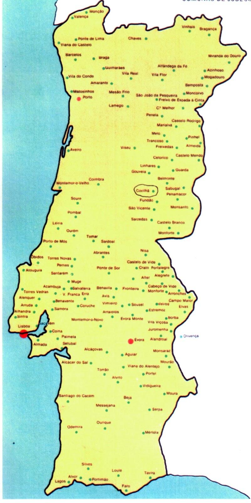 covilhã mapa Covilhã   Subsídios para a sua História: Covilhã   Sobre o  covilhã mapa