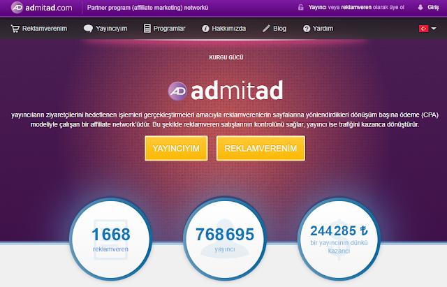 Adsense Alternatifi Reklam Siteleri Admitad - Kurgu Gücü