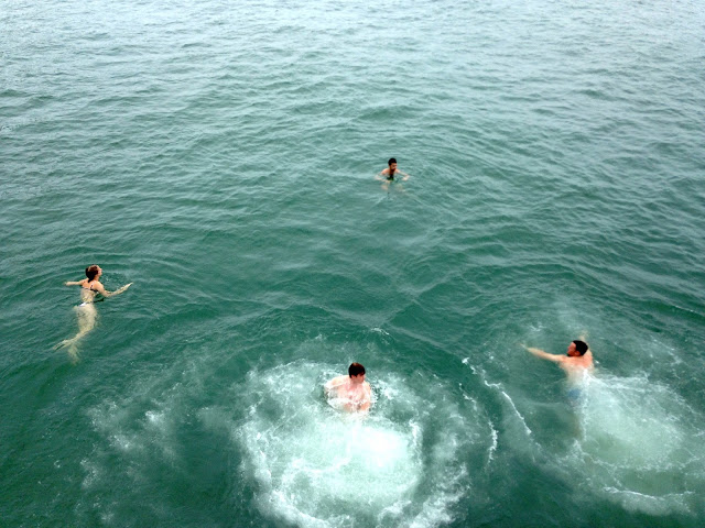 Jumping into the ocean from a junk boat | Lamma Island, Hong Kong