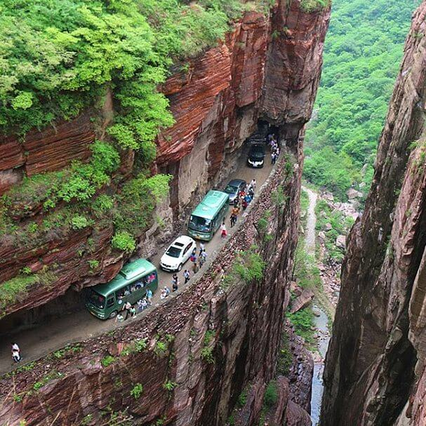 The 15 Most Hazardous Roads In The World - Guoliang Tunnel, China