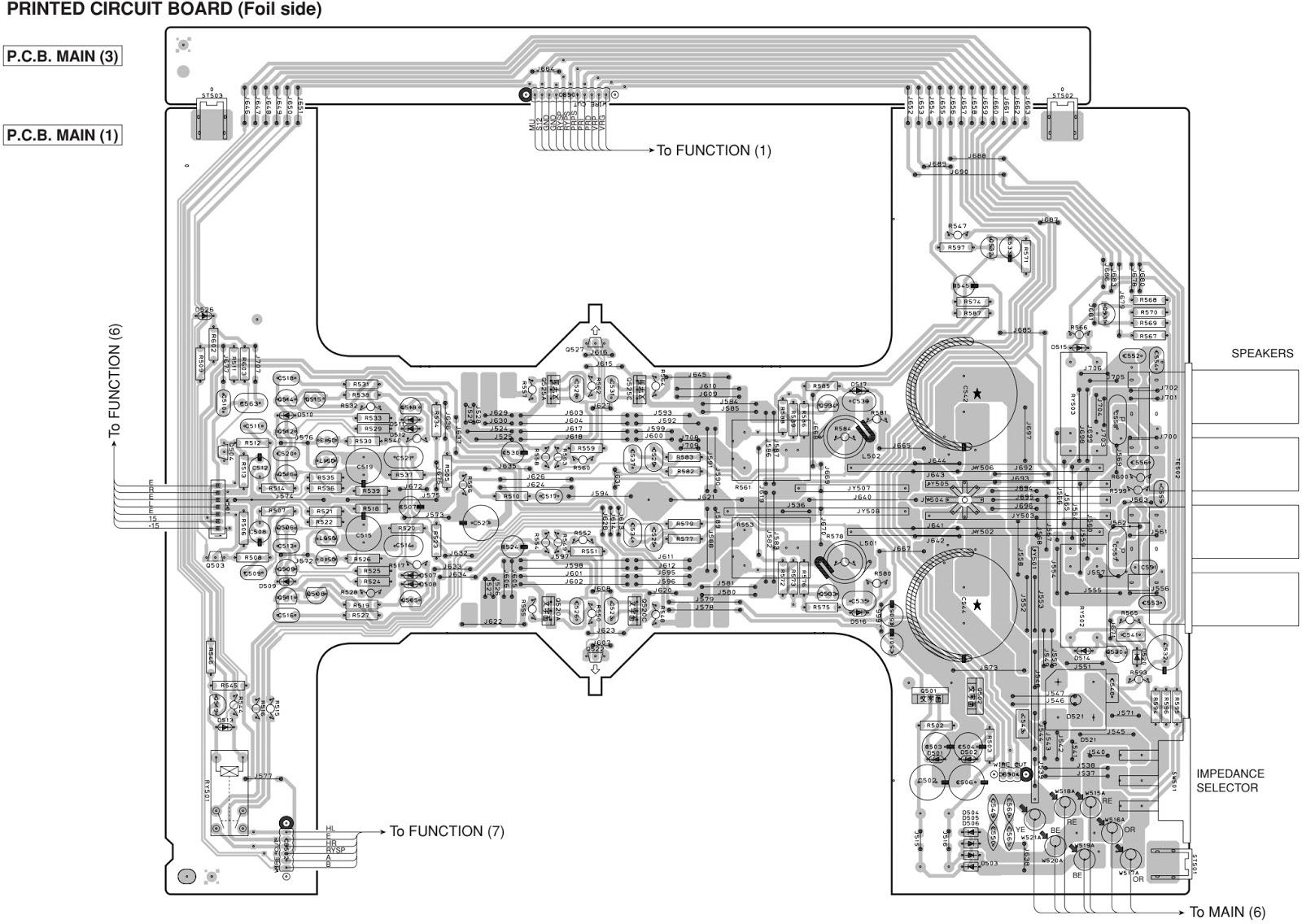 Electro Help Yamaha Ax496 Stereo Amplifier Circuit