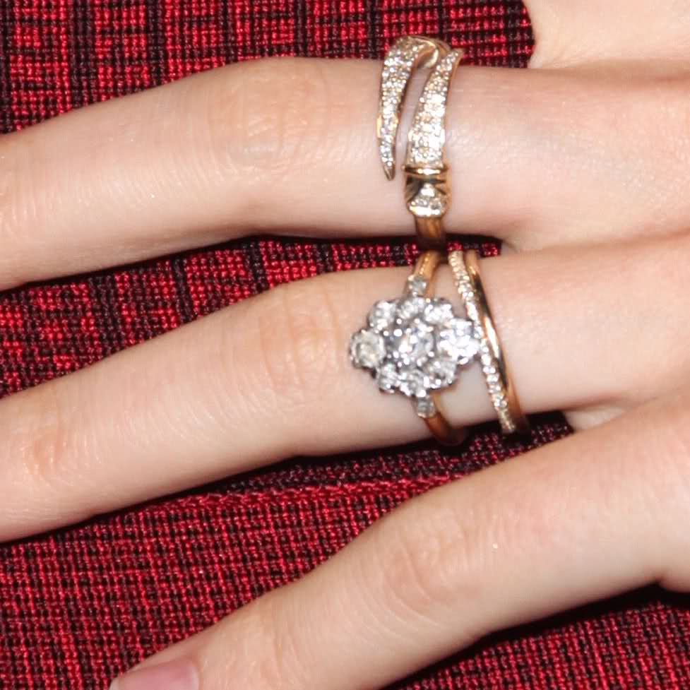 always the bridesmaid: engagement rings: celebrity style