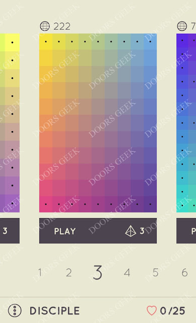 I Love Hue Disciple Level 3 Solution, Cheats, Walkthrough