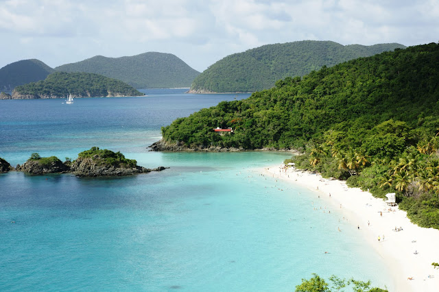 The Trunk Bay is famous for its underwater trail