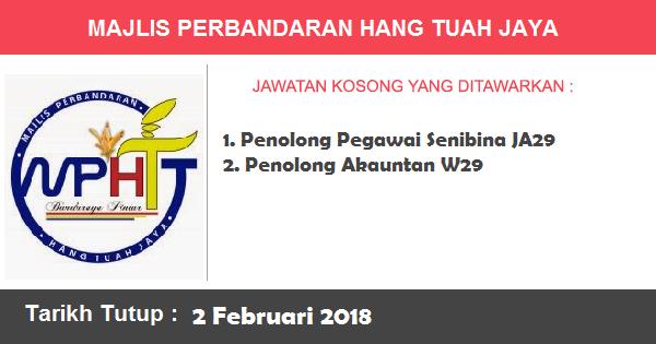 Jawatan Kosong di Majlis Perbandaran Hang Tuah Jaya
