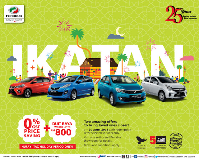 Promosi Perodua Hari Raya June 2018