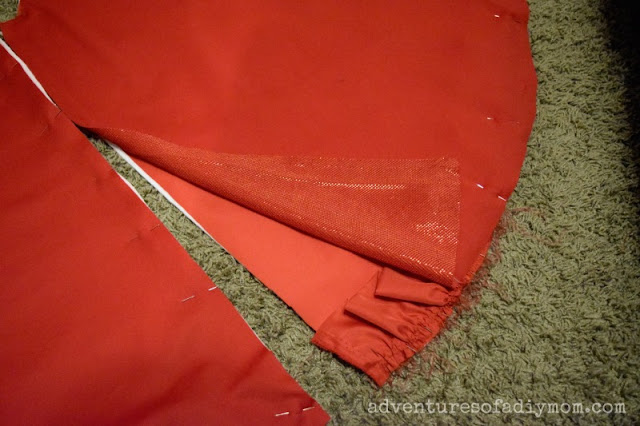 layer fabric for tree skirt