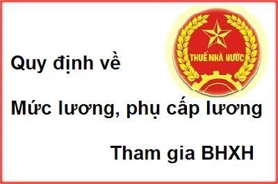 Phụ cấp lương tham gia BHXH