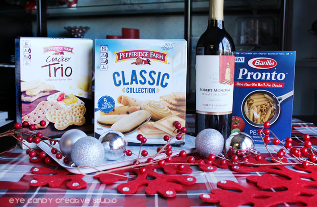 holiday pairings, pepperidge farm, barilla, robert mondavi wine