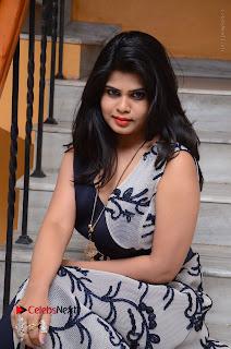 Telugu Actress Alekhya Stills in Blue Long Dress at Plus One ( 1) Audio Launch  0128.jpg