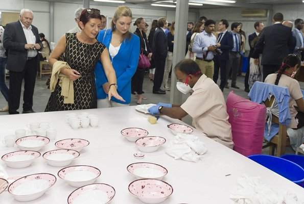 Hereditary Grand Duchess Stephanie and Heriditary Grand Duke Guillaume visited RAK Ceramics Dubai Expo 2020