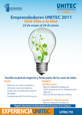 Convocatoria Emprendedores UNITEC 2011 - Featured Image