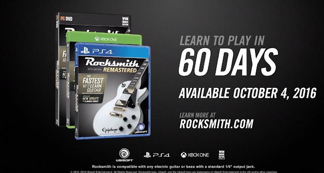 Anunciado RockSmith 2014 Remastered para octubre de este año