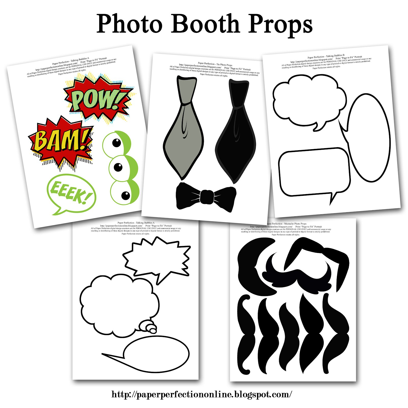 INSTANT DOWNLOAD Wedding Photo Booth Props Printable PDF |Printable Photo Booth Sayings