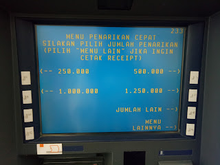 Tampilan Menu Utama ATM Link Himbara
