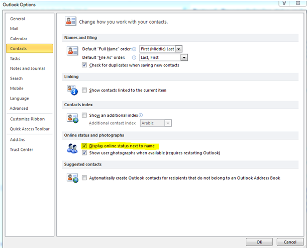 FIX SKYPE FOR BUSINESS INTEGRATION WITH OUTLOOK