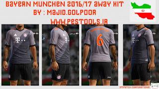 Bayern Munchen 2016-2017 Away Kit Pes 2013