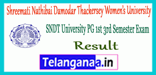 SNDT Womens Shreemati Nathibai Damodar Thackersey University PG 1s 3rd Semester Result