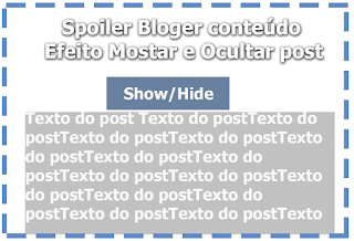 Spoiler blogger widget show hide post