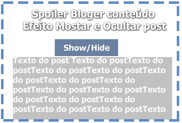 Spoiler Blogger widget show hide post