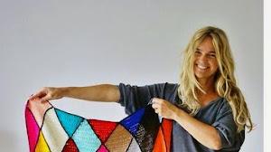 Hermoso diseño con rombos para tejer al crochet