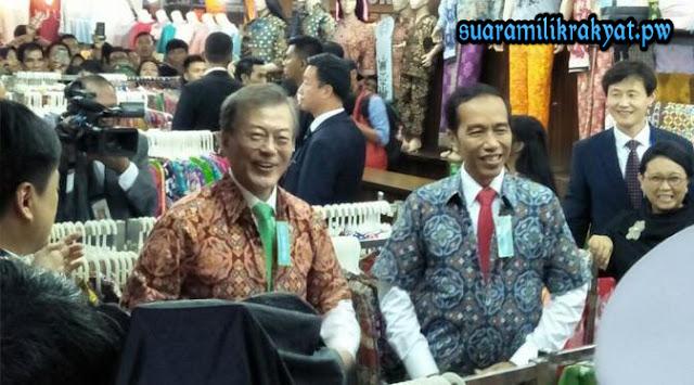 Pak Jokowi dan presiden korea selatan moon jae in.