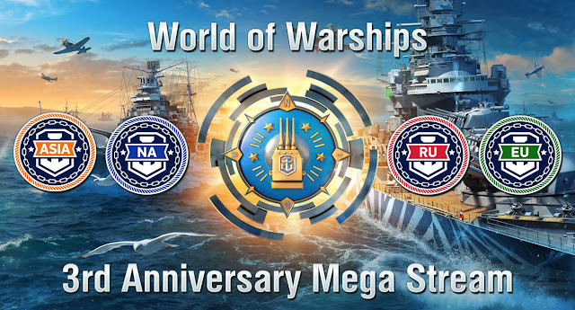 World of Warships: 3rd Anniversary Mega Stream