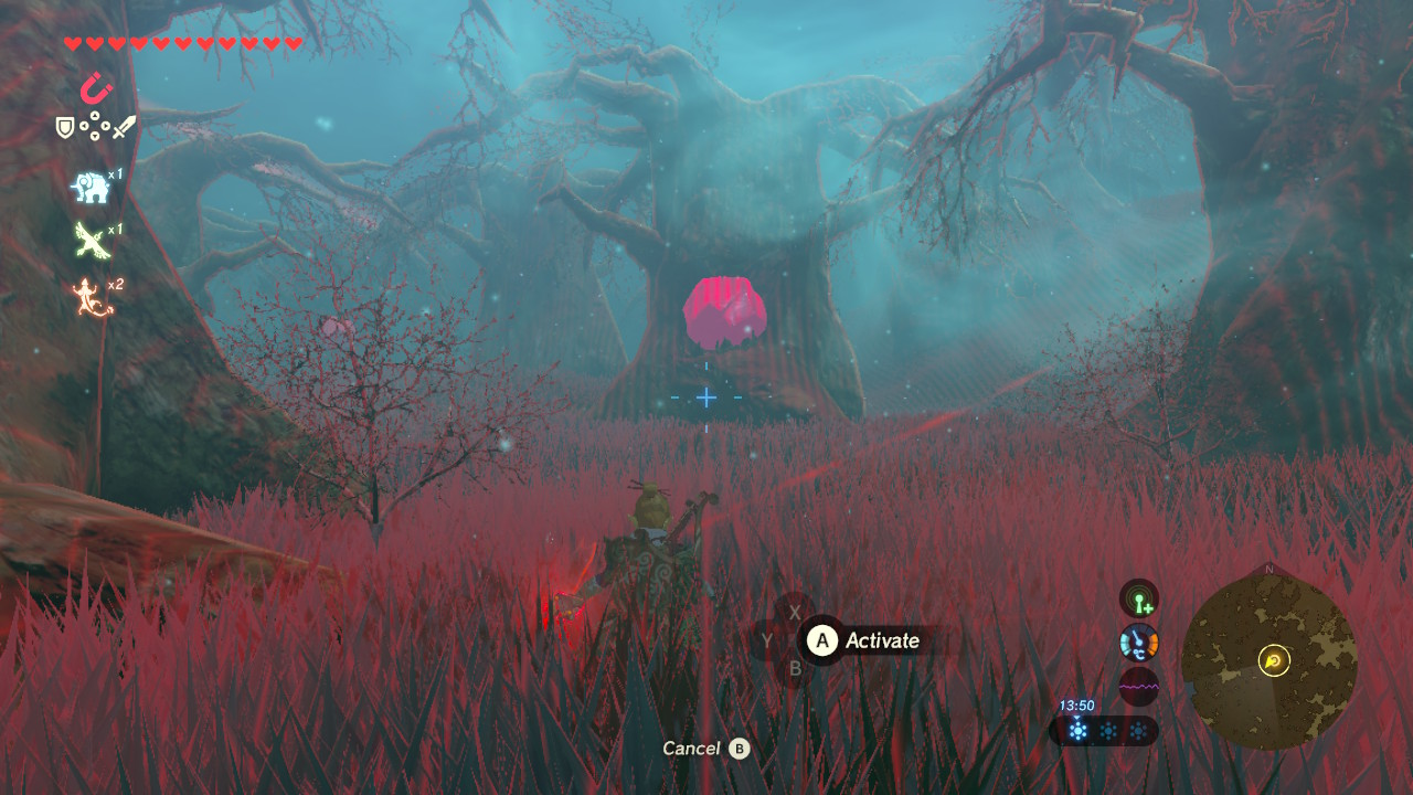 Cosmic Acorns Beth Breath Of The Wild 10 Found This One To Be Easiest Follow Last Trial Meant I Had A Trail Iron In Trees Made Much Easier By Using Magnesis Probably All