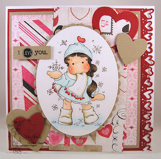 Tilda with Ribbon Heart Scarf Card Kit