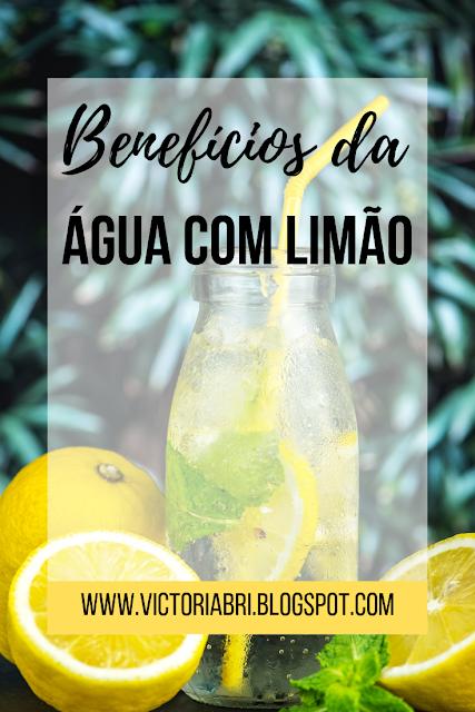 água com limão, benefícios