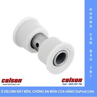Bánh xe cao su càng bánh xe đẩy inox | 2-4408-444 sử dụng ổ nhựa Delrin