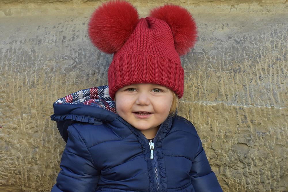 cappello pon pon volpe