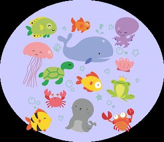 Kartun Binatang Laut Lucu
