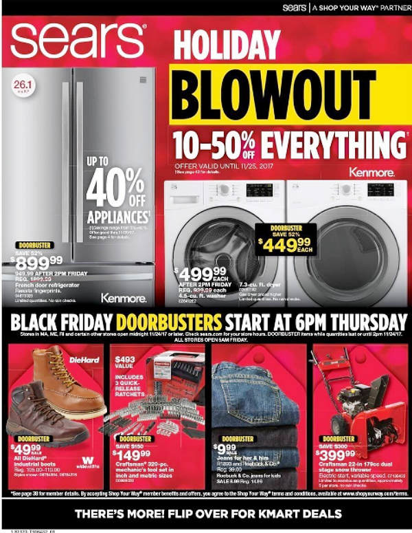 Sears Black Friday 2017 Ad
